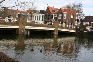 Gouda houses and bridge