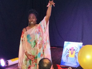 Wendy Shearer storytelling at Moors Bar - Guyanese folklore in Crouch End