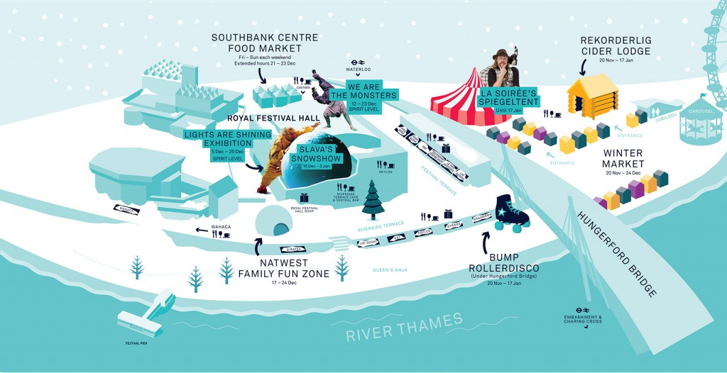 Storytelling at Southbank Centre - Natwest Family Fun Zone map