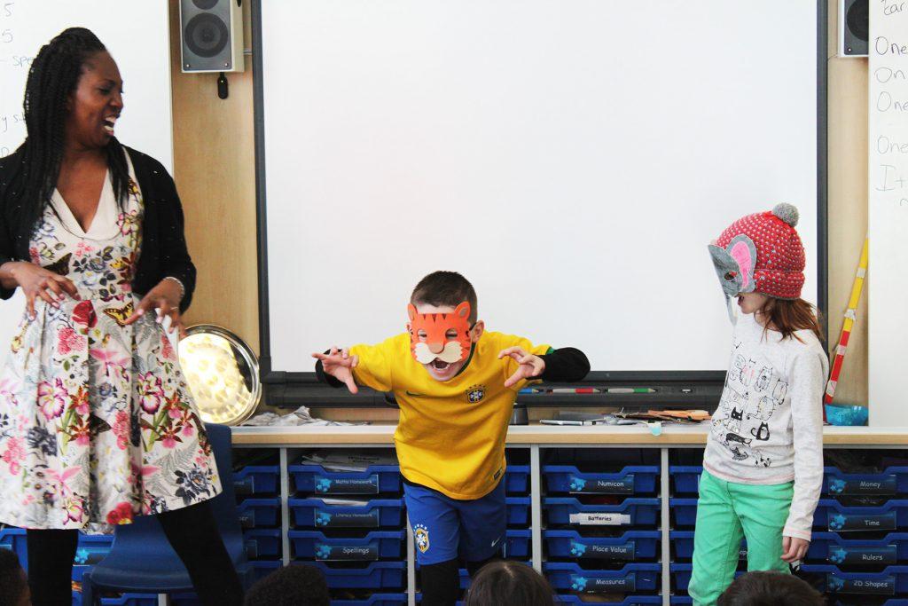 Wendy Shearer Professional Storyteller - storytelling at Campsbourne School