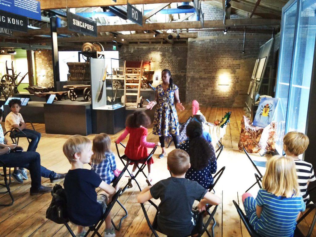 Wendy Shearer telling Caribbean stories at Museum of London