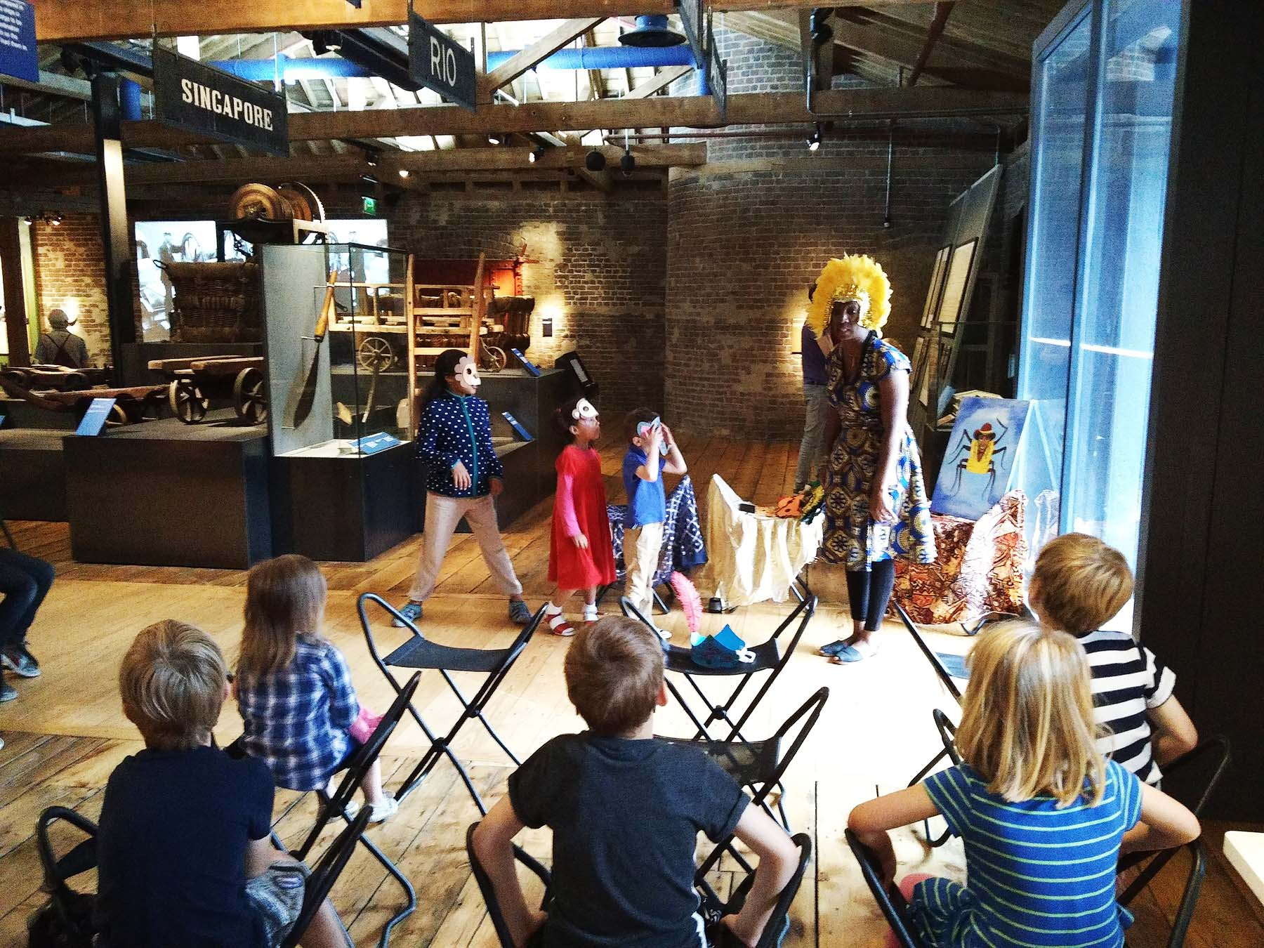 Wendy Shearer storytelling - Museum of London, Hello London, Hello Barbados