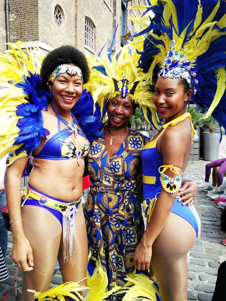 Calypso dancers & Wendy Shearer, Hello London, Hello Barbados festival