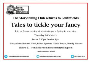 South London Storytelling event
