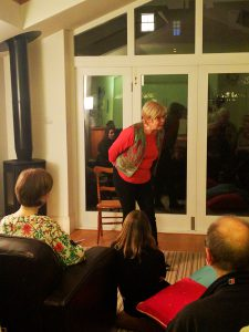 Storyteller June Peters performing The Veil