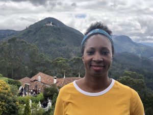 Wendy Shearer in Bogotá on Monserrate mountain