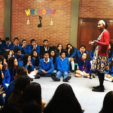Wendy Storytelling at San Jorge's School in Bogota, Colombia