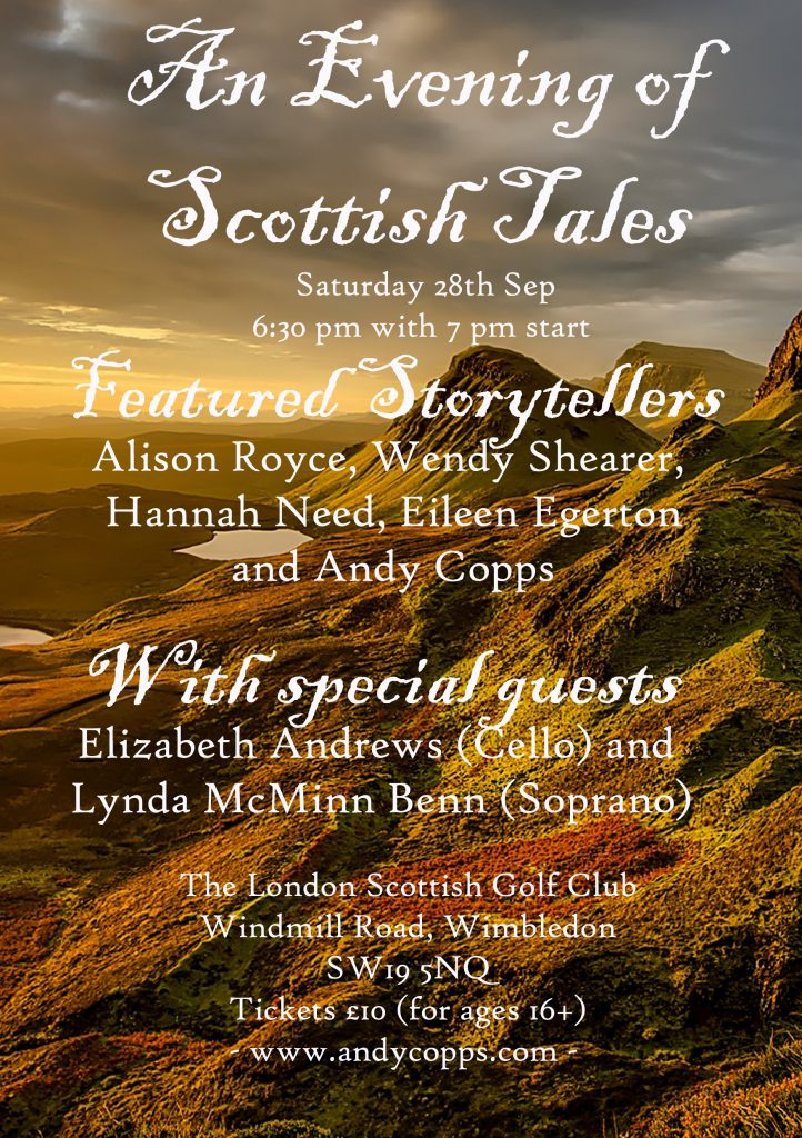 Scottish Tales - an evening with Wendy Shearer, Alison Royce, Hannah Need, Eileen Egerton and Andy Copps