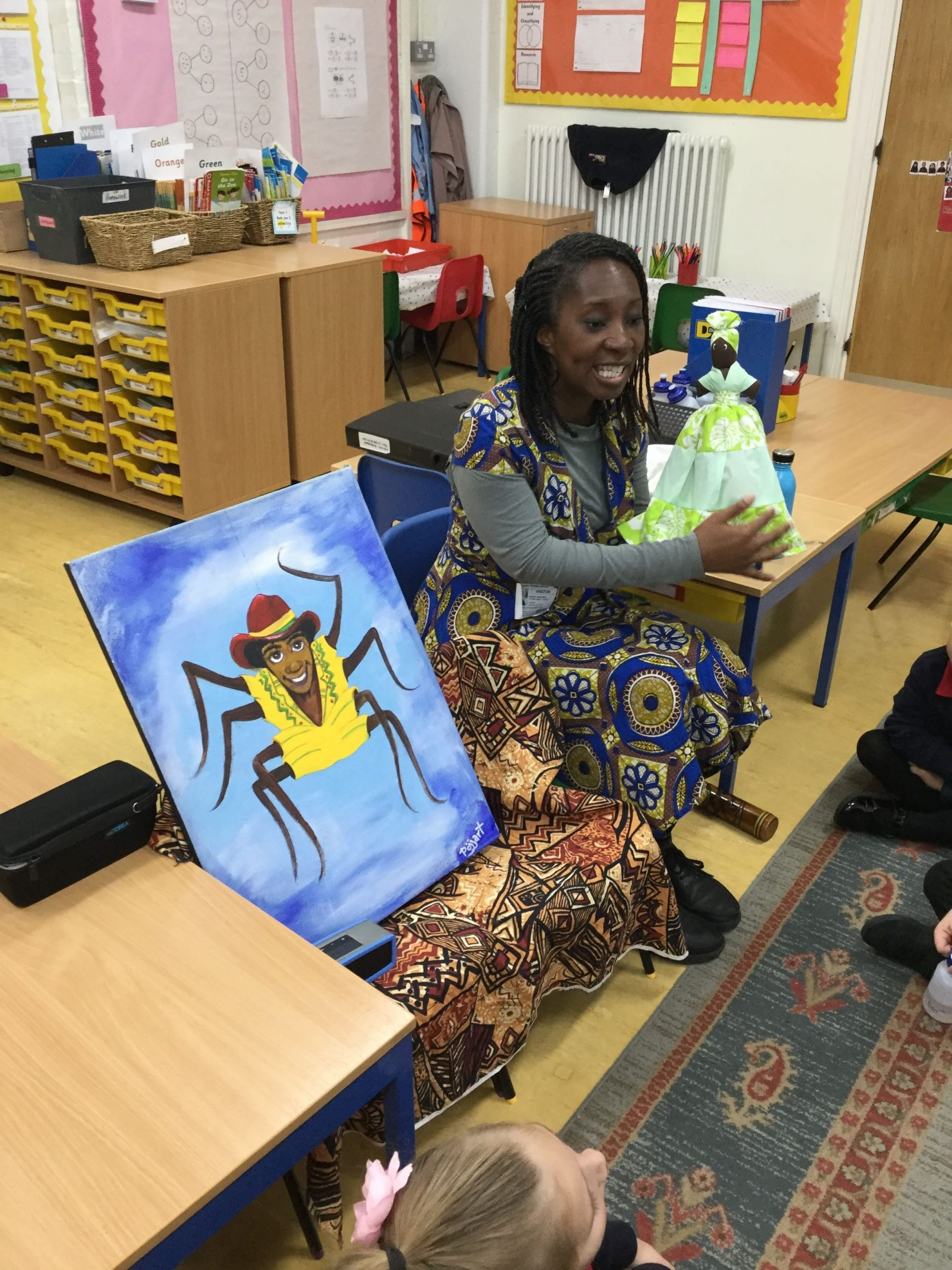 Wendy Shearer Storytelling with puppets at Duncombe Primary School
