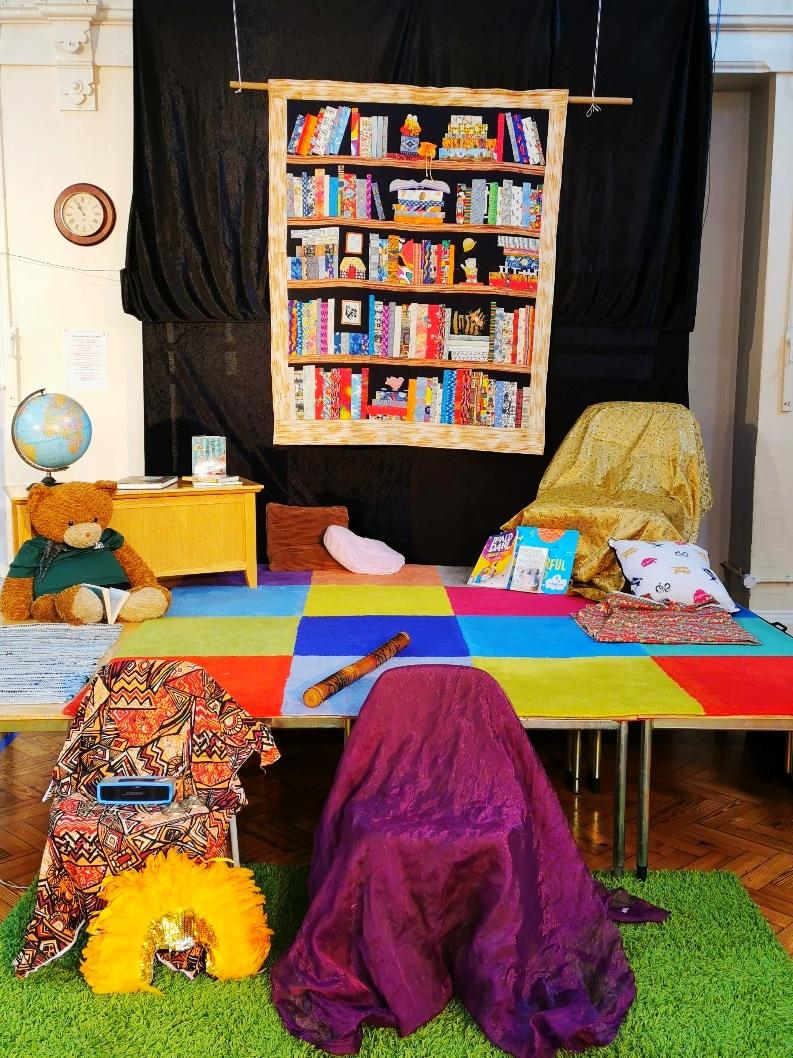 Storytelling stage at Trafalgar Junior School